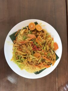 Vegetarian Singapore-style noodles
